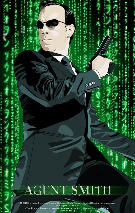 hugo weaving agent hugo weaving agent smith in the matrix by mifuyne on