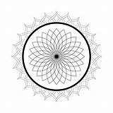 Mandala Coloring Pages Printable Kaleidoscope Lotus Christmas Flower Domain Adults Print Sheets Colorings Flowers Getcolorings Malvorlagen Floral Publicdomainpictures sketch template