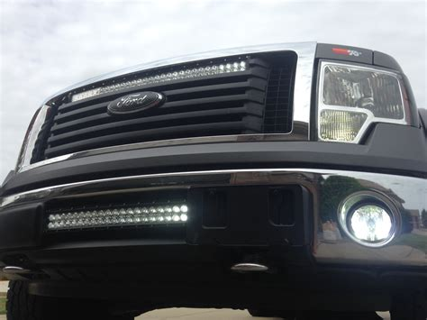 f150 with custom mounted led light bars soundenvision