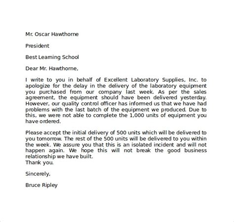 apology letter   late templates