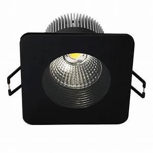 Spot Carré Led : spot led encastrable 8 5w 50w carr noir blanc chaud ~ Edinachiropracticcenter.com Idées de Décoration