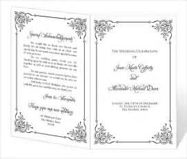 diy wedding ceremony program fans image gallery program template