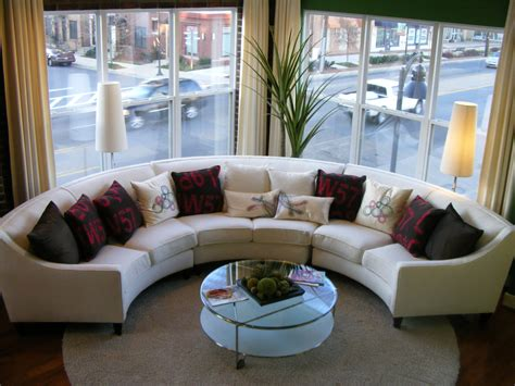 Slipcovers For Curved Sectional Sofas by White Leather Sofa With Back Connected With Half Round