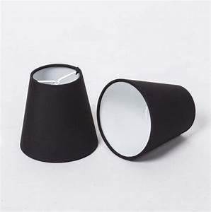 Kronleuchter Metall Schwarz : kiemmschirm schwarz aufsteckschirm schwarz lampenschirm f r kronleuchter form rund 11 cm ~ Orissabook.com Haus und Dekorationen