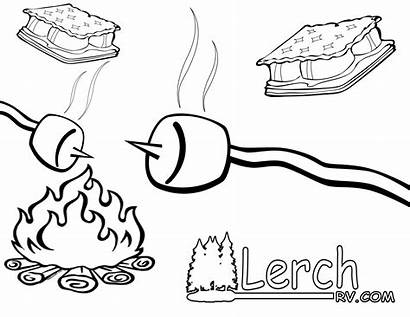 Smores Coloring Pages Clipart Clip Mores Rv