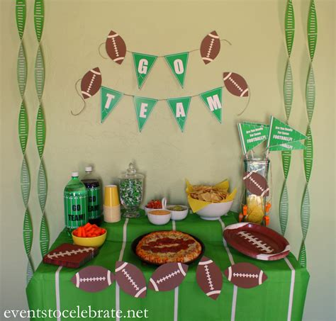 Football Decorations - football ideas events to celebrate