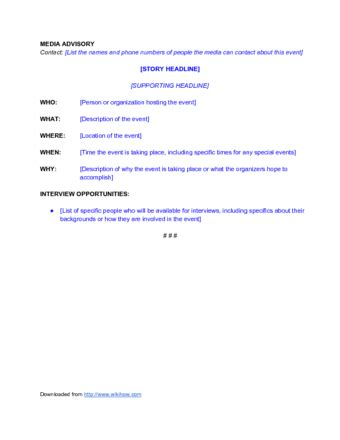 media advisory template how to write an associated press style press release
