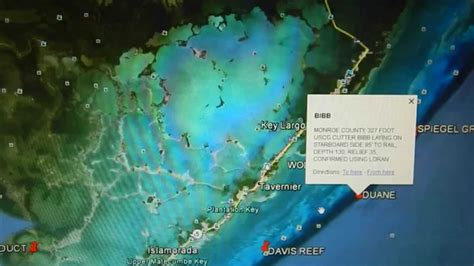 florida google map earth fishing reef maps key keys largo overview fl artificial