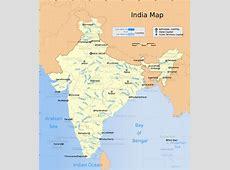 Карта Индии, подробная на русском языке на ТуристерРу