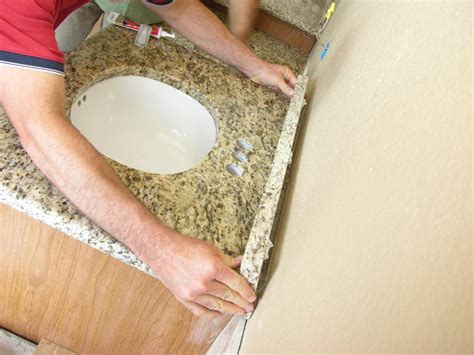 install  bathroom countertop  tos diy