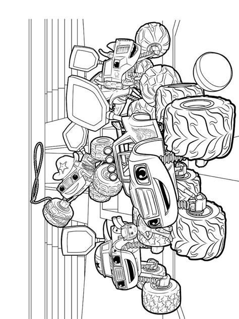 blaze   monster machines coloring pages  printable blaze   monster machines