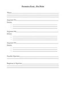 Writing Persuasive Essay Outline