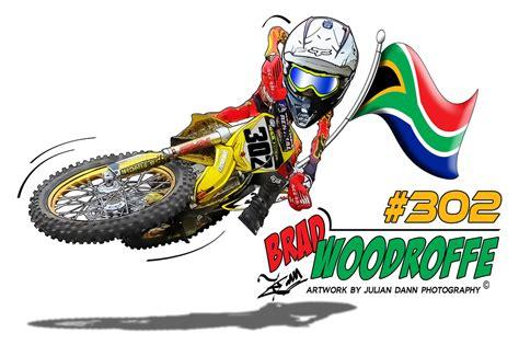 Motocross Caricature Cartoons