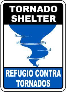 Tornado Storm Shelter Sign