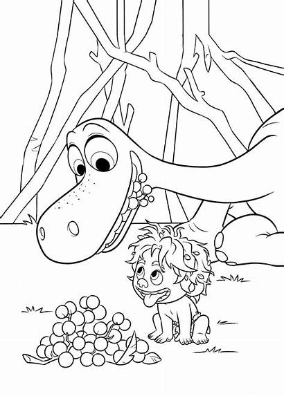 Dinosaur Coloring Pages Arlo Spot Eat Berries
