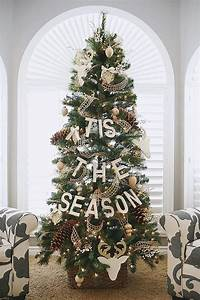 Simple, And, Natural, Christmas, Tree, Decorating, Ideas, For, 2015