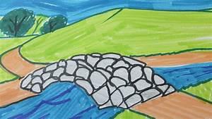 Comment Dessiner La Mer : comment dessiner un paysage facile youtube ~ Dallasstarsshop.com Idées de Décoration