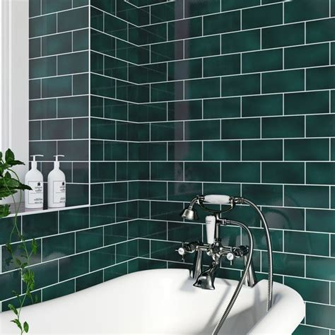 va puddle glaze peacock plain field tile mm  mm