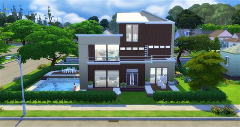 of sims 4 house building small modernity modern home sims 4 houses Best
