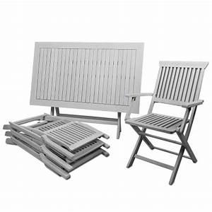 Salon De Jardin Acacia : table de jardin bois jardin et patio ~ Teatrodelosmanantiales.com Idées de Décoration