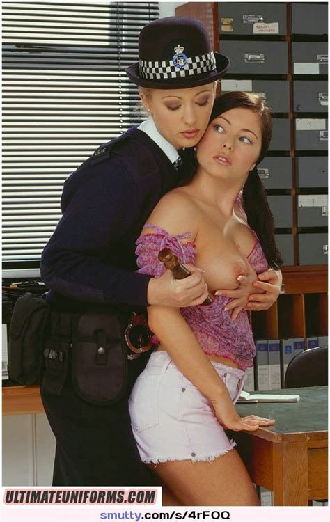 British English Police Policewoman Uniform Uniformgirl Hat Baton Lesbian Lesbiansex Smutty Com