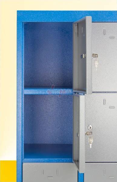 armoire 15 casiers collectivit 233 s atelier bleu gris