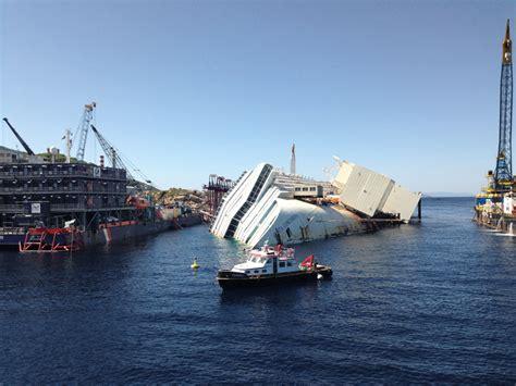 costa concordia salvage plan ship lifted