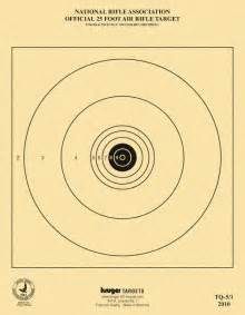 Printable NRA 5 1 Air Rifle Target