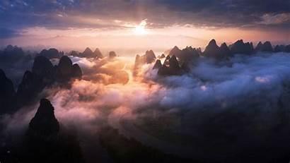 Windows Theme Guilin Yangshuo Mist 10wallpaper