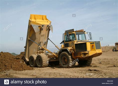 build a volvo truck volvo dump truck working on a building site in england