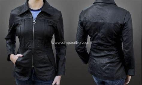 jaket kulit wanita formal jasblazer model wz