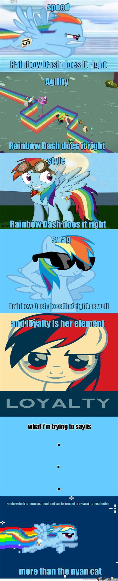 Rainbow Dash Meme - why rainbow dash is the new nyan cat by radon online meme center