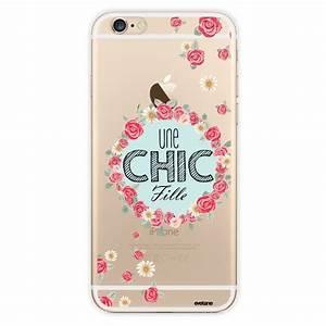 Coque Pour Iphone 6 : coque transparente une chic fille pour apple iphone 6 et 6s coquediscount ~ Teatrodelosmanantiales.com Idées de Décoration