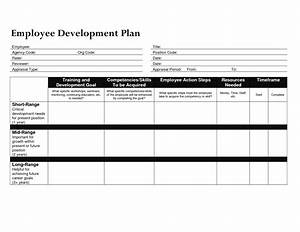 Best photos of employee work plan template word sample for Employee professional development plan template