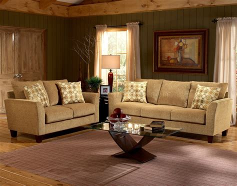 Upholstery Living Room Furniture by Barton Camel Fabric Casual Living Room Sofa Loveseat Set