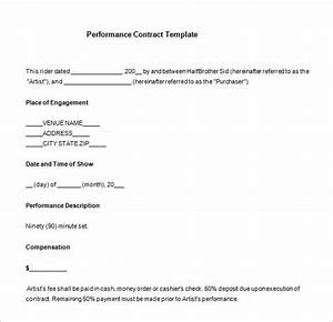 performer contract template 15 performance contract templates word pdf google