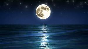 sea, and, full, moon, , night, stock, footage, video, , 100, , royalty