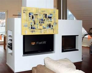 Fernseher Verstecken Möbel : fernseher hinter bild verstecken tv lift projekt blog ~ Markanthonyermac.com Haus und Dekorationen
