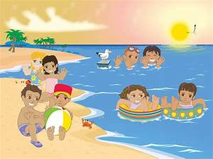 Kids At The Beach Vector Art & Graphics | freevector.com
