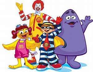 The Chuck E. Cheese characters are obvious McDonald's ...