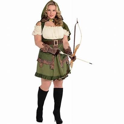 Robin Hood Costume Plus Hoodie Adult Lady