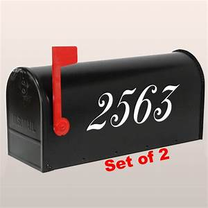 set of 2 custom mailbox number decals house numbers decal With mailbox letters and numbers stickers