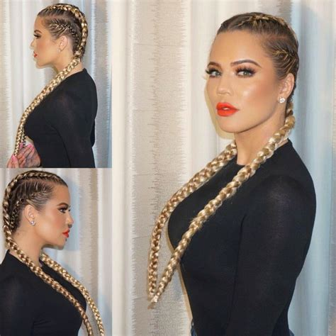 khloe kardashians braids hair beauty kardashian