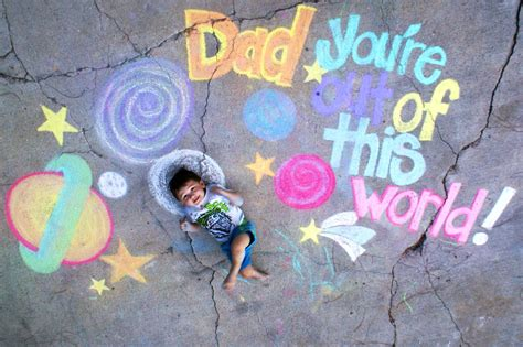 Chalk Art Father's Day Card