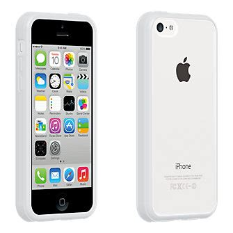 verizon iphone 5c clear shell with white edge for iphone 5c verizon wireless