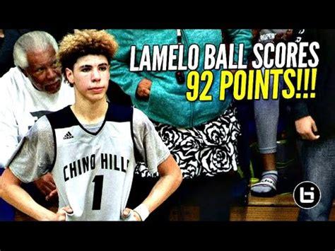 lamelo ball scores  points     quarter
