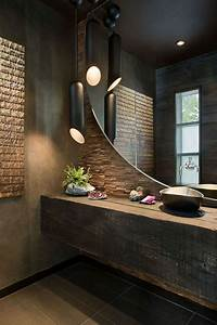 Le theme du jour est la salle de bain retro for Salle de bain design avec vasque en pierre pour fleurs