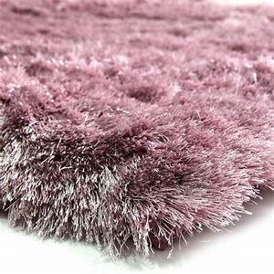 Tapis A Poils Long : tapis doux salon couleur rose 120x170cm ~ Teatrodelosmanantiales.com Idées de Décoration