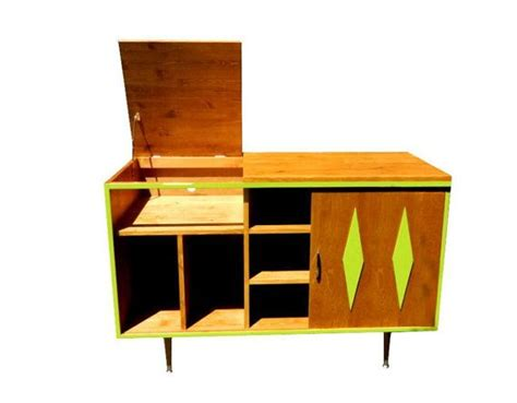 turntable cabinet mid century stereo turntable record cabinet made to