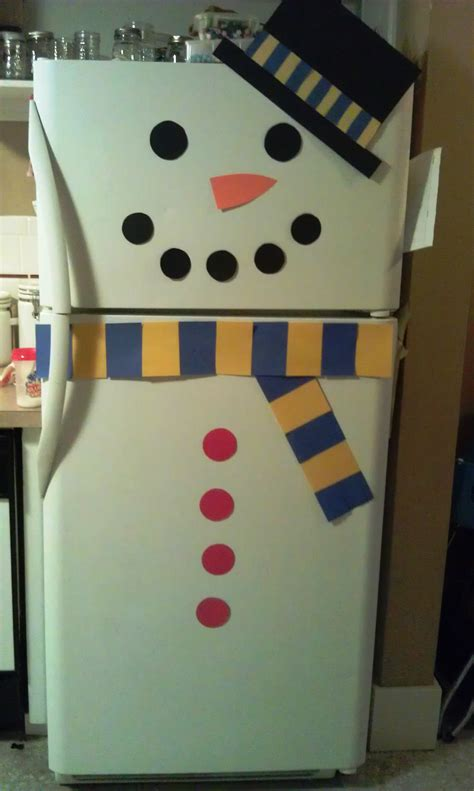 decorating a snowman decorate refrigerator as a snowman woo jr kids activities